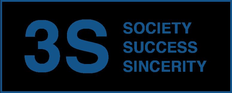 3S SOCIETY SUCCESS SINCERITY